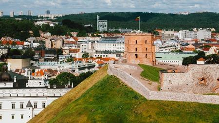lithuania: Vilnius, Lithuania. Tower Of Gediminas or Gedimino In Vilnius, Lithuania.