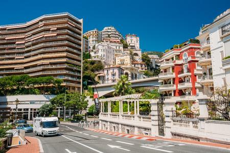 monte carlo: Monte-Carlo, Monaco - June 28, 2015: Movement of vehicles on street city in Monaco, Monte Carlo. Editorial