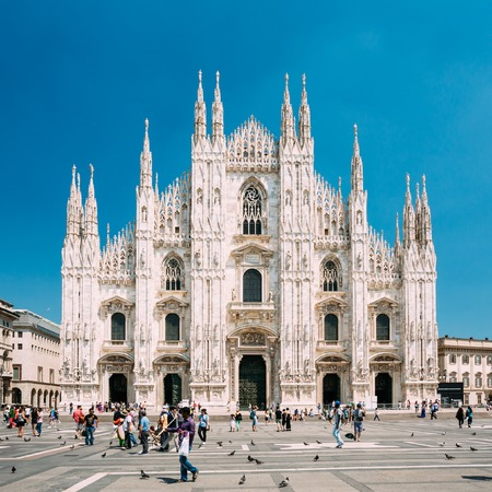 Milan, Italy  - July 01, 2015: Milan Cathedral or Duomo di Milano is the cathedral church. famous landmark