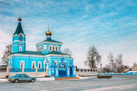 St. John the Korma convent church in Korma Village, Dobrush District, Belarus. Famous Orthodox Church.