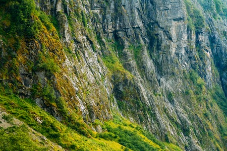 Norwegian Nature Mountain Rock Background. Rocky Background Stock Photo