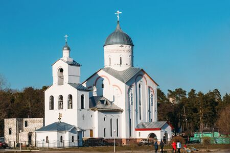 alexander nevsky: St. Alexander Nevsky Church in Gomel, Belarus. Orthodox Church. Spring Season