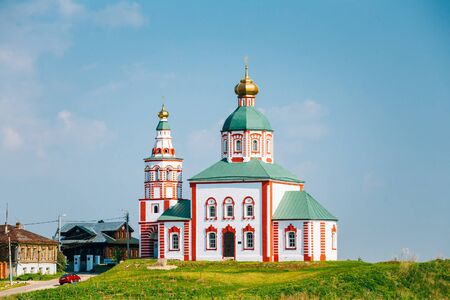golden ring: Church Of Elijah The Prophet Or Elias Church - Church In Suzdal, Russia. Built In 1744. Golden Ring Of Russia Stock Photo