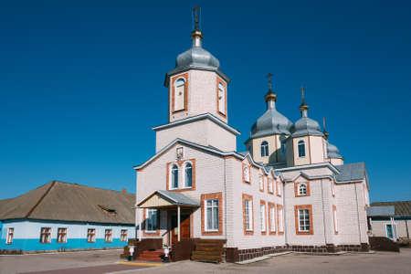 st nicholas cathedral: St. Nicholas Cathedral church in Dobrush, Belarus. Stock Photo