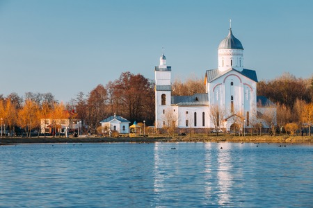 alexander nevsky: St. Alexander Nevsky Church in Gomel, Belarus. Orthodox Church. Stock Photo