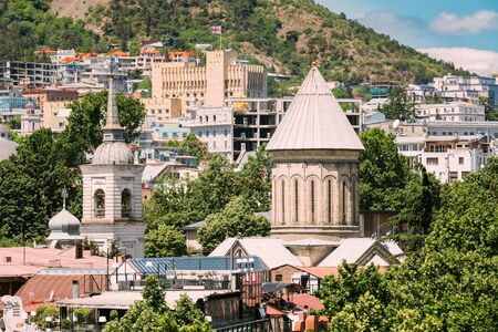 Tbilisi Sioni Cathedral, Georgia. Cathedral of Saint Mary of Zion. The Tbilisi Sioni Cathedral is situated in historic Sionis Kucha - Sioni Street in downtown Tbilisi Reklamní fotografie