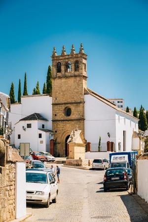 Ronda, Spain - June 19, 2015: The Church of Padre Jesus . Iglesia de Padre Jesus is a 16th century gothic style church.