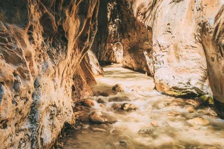 nerja: Popular Tourist Route In River Bed Rio Chillar River In Nerja, Malaga, Spain