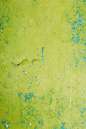 multilayer: Close View Of Multilayer Dyed And Cracked Flaked Texture Of Blue And Light Green Paint At  The Surface.
