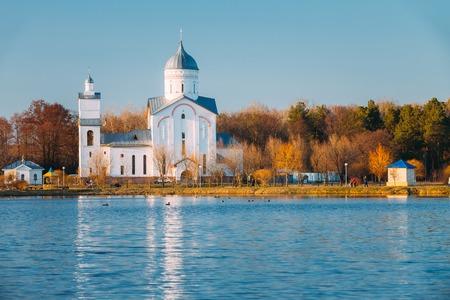 St. Alexander Nevsky Church in Gomel, Belarus. Orthodox Church. Stock Photo
