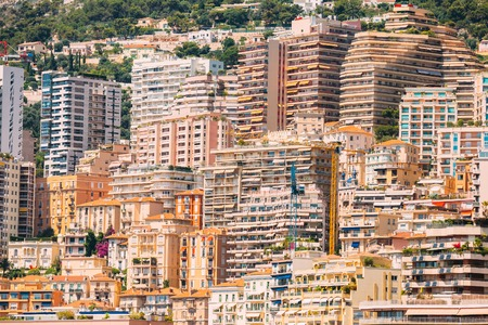 monte carlo: Monaco, Monte Carlo architecture background. Many multi-story houses, buildings.