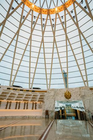 minsk: Minsk, Belarus - December 20, 2015: Hall inside dome of the Belarusian Museum Of The Great Patriotic War in Minsk, Belarus Editorial