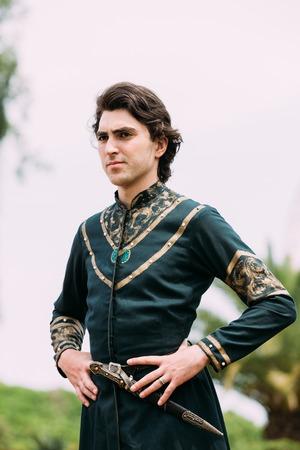 tradition: Batumi, Adjara, Georgia - May 26, 2016: Young man in Georgian national holiday