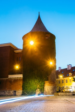 extant: Riga Latvia. View Of Powder Tower, Extant Construction Of Ancient
