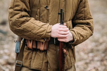 German military ammunition of a German soldier at World War II.