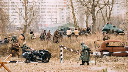 reenactmant: Reconstruction of Battle during events dedicated to Celebration Editorial