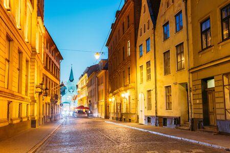 pyramidal: Riga Latvia. White Tower With Pyramidal Spire Of Our Lady Of Sorrows