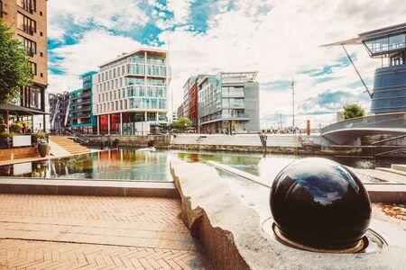 Oslo, Norway. Modern District Of Scandinavian Architecture. Aker