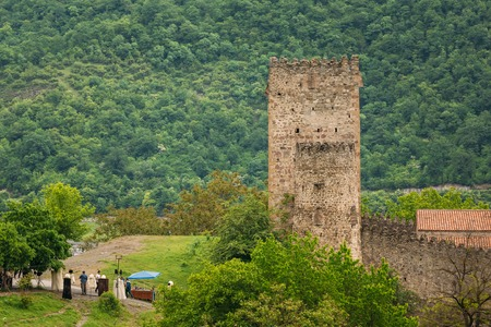 Castle Complex Ananuri In Georgia, About 72 Kilometres From Tbilisi. Cultural Historic Heritage. Large Tower Sheupovari Is Well Preserved And Is Location Of Last Defense Of Aragvi Against Shamshe.