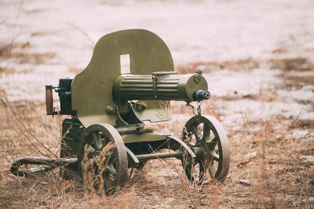 重機関銃 写真素材