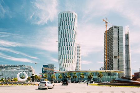 famous industries: Public Service Hall In Batumi, Adjara, Georgia. Sunny Summer Day Editorial