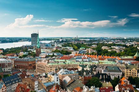 st jamess: Riga, Latvia. Summer Riga Cityscape. Famous Landmark - St. James Editorial