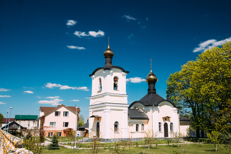 nikolay: Zheleznyaki, Vetka District, Gomel Region, Belarus. Belfry And C Stock Photo