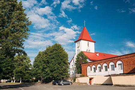 Kamyenyets, Brest Region, Belarus. Sts Peter And Paul Roman Catholic Church Stock Photo