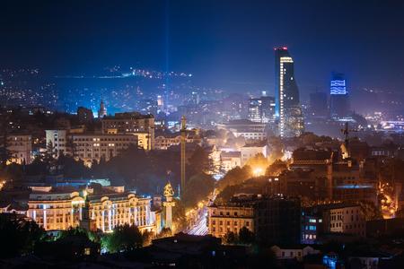 Tbilisi, Georgia. Construction Development Of Modern Architecture Stock Photo