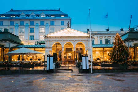 suomi: Helsinki, Finland. Famous And Popular Place Is Cafe, Bar, Restaurant