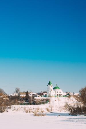 nikolay: Gomel, Belarus. Church Of St Nicholas The Wonderworker In Sunny Winter Day