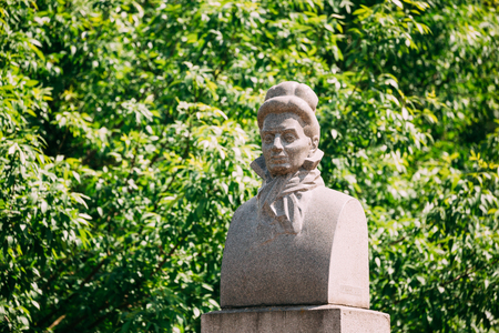 Grodno, Belarus. Monument To Eliza Orzeszkowa. E. Orzeszkowa Was A Polish Novelist And A Leading Writer Of The Positivism In Poland Movement During Foreign Partitions. Hrodna, Belarus