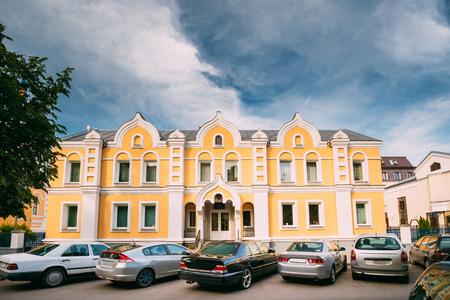 nikolay: Brest, Belarus. Cars Parking Near Building Of Sunday School At St. Nicholas Church Sovietskaya Street.