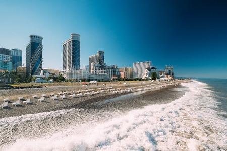 Batumi, Adjara, Georgia. Modern Multi-storey Residential Buildings Фото со стока - 89987786