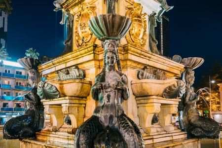 Batumi, Adjara, Georgia. Decorative Details Of Neptune Fountain 版權商用圖片 - 89998944