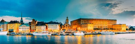 Stockholm, Sweden, Embankment In Old Part Of Stockholm At Summer