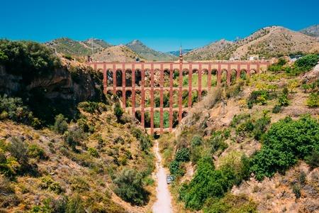 Nerja, Malaga, Spain. Puente Del Aguila Or Eagle Bridge. Old Aqueduct