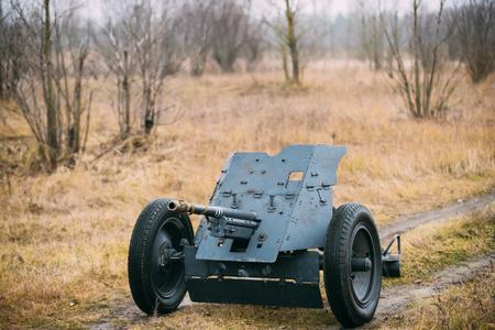 German Anti-tank Gun Pak 36 In Field. It Was The Main Anti-tank Weapon Of Wehrmacht Infantry Units Until Mid-1941.