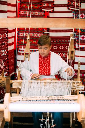 Boy In Ethnic Traditional Folks National Belorussian Costume Wea