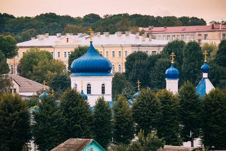 Mahiliou, Belarus. Cupolas Of Church of Saints Boris and Gleb, a Stok Fotoğraf