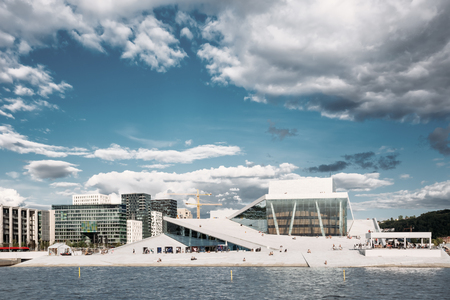 Oslo, Norway. Opera House Is Home Of Norwegian National Opera An