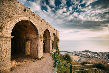 Terracina, Italy. Temple Of Jupiter Anxur