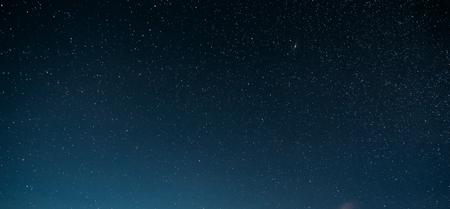 Night Starry Sky With Glowing Stars. Night Starry Sky Blue Background