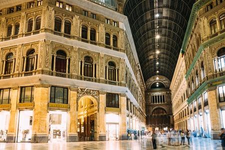 Naples, Italy. Interior Of Galleria Umberto I.