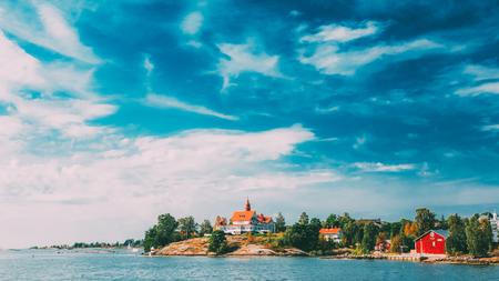 Pier, Harbour And Quay, Island Near Helsinki, Finland. Banco de Imagens