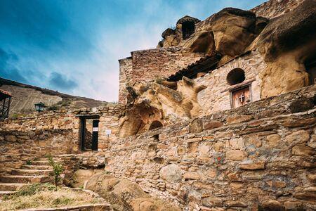 Sagarejo Municipality, Kakheti Region, Georgia. Ancient Rock-hewn Georgian Orthodox David Gareja Monastery Complex. Monastery Is Located Is Southeast Of Tbilisi. 6th �. Hundreds Of Cells, Churches