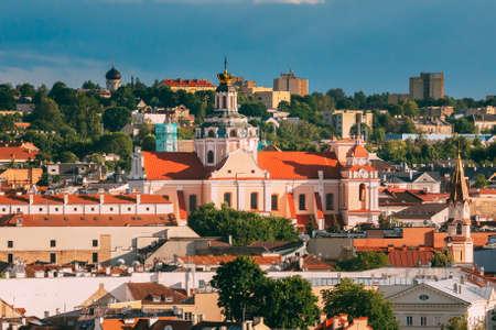 Vilnius, Lithuania. Church Of St. Casimir. Destination Scenic. Old Town 版權商用圖片