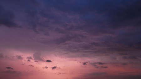 Sunset Stormy Dramatic Sky Before Rain 版權商用圖片