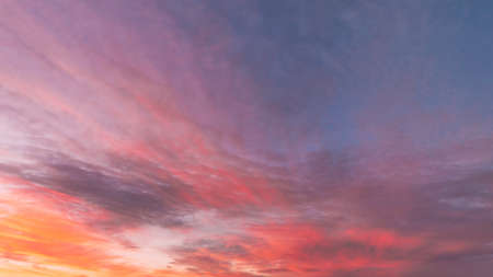 Sunrise Bright Dramatic Sky. Scenic Colorful Sky At Dawn. Sunset Sky Natural Abstract Background