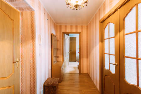 Living Room Interior Of Typical Russian Flat Floor